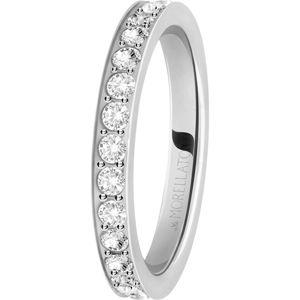 Morellato Ocelový prsten s krystaly Love Rings SNA41 54 mm