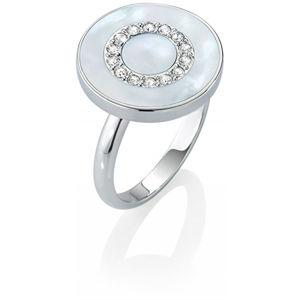 Morellato Stříbrný prsten s perletí a krystaly Perfetta SALX09 58 mm
