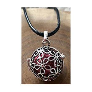 MUMMY BELL Dámský náhrdelník Rolnička Malé kytičky - červená K2SC18