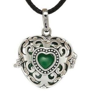 MUMMY BELL Dámský náhrdelník Rolnička Srdce Vintage K9SZ18