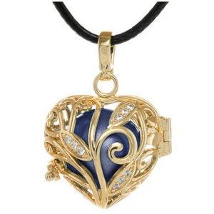 MUMMY BELL Dámský náhrdelník zlatá Rolnička Srdíčko K13ZM18