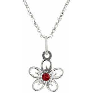 Praqia Dívčí stříbrný náhrdelník Jabloňový květ KO5103_BR030_40_RH  (řetízek, přívěsek)