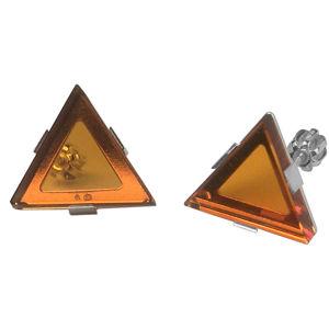 Praqia Elegantní stříbrné náušnice by Gabriela Koukalová Triangle NA6271