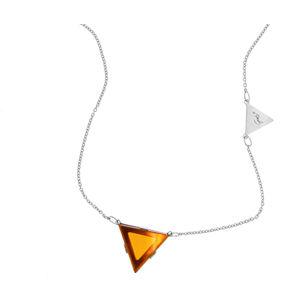 Praqia Elegantní stříbrný náhrdelník by Gabriela Koukalová Triangle N6270