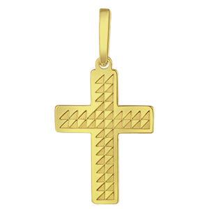 Praqia Zlatý přívěsek Křížek PA6254