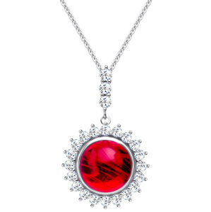 Preciosa Stříbrný náhrdelník Camellia 6106 63 (řetízek, přívěsek)