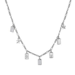 Rosato Stříbrný náhrdelník s přívěsky Futura RZFU01
