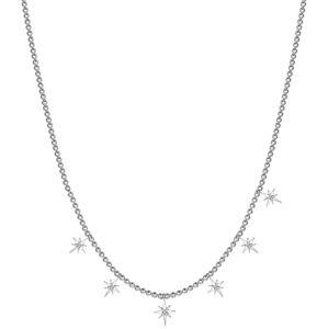 Rosato Stříbrný náhrdelník s přívěsky Storie RZC035