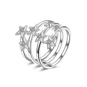 Rosato Stříbrný prsten se zirkony RZA001 54 mm