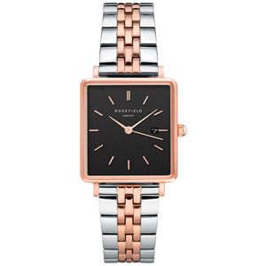 Rosefield TheBoxy Black Silver Rose gold Duo QVBSD-Q016