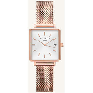 Rosefield The Mini Boxy XS White Sunray Mesh Rose gold QMWMRG-Q040