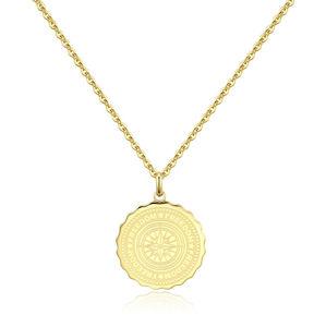 S`Agapõ Ocelový náhrdelník Freedom Coin SKY06