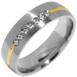 Silvego Snubní ocelový prsten pro ženy PARIS RRC2048-Z 55 mm