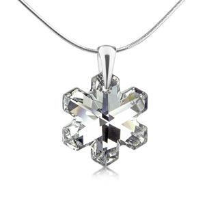 Silvego Stříbrný přívěsek Vločka z krystalu Swarovski LSW171P