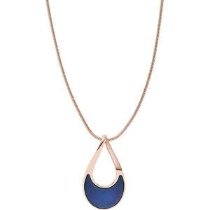 Skagen Dámský bronzový náhrdelník s modrou perletí SKJ1359791