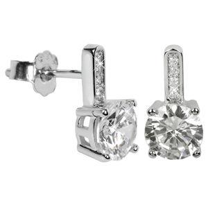 Silver Cat Stříbrné náušnice s krystaly SC033