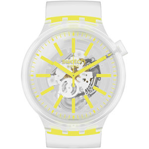 Swatch Big Bold Yellow In Jelly NEON SO27E103