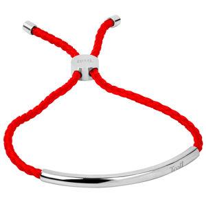 Troli Červený náramek s ocelovou ozdobou TO2027