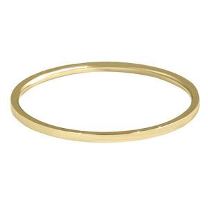 Troli Elegantní minimalistický prsten z oceli Gold 62 mm