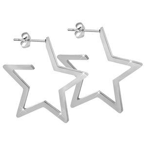 Troli Hvězdné ocelové náušnice TO2340
