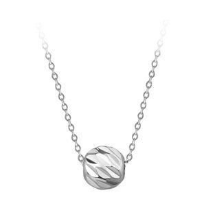 Troli Něžný ocelový náhrdelník s přívěskem Globe Silver