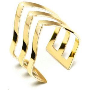 Troli pozlacený prsten z oceli 74 gold TO1852