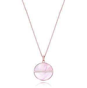 Viceroy Nádherný bronzový náhrdelník s krystaly Chic 75075C01012