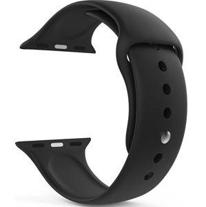 Wotchi Silikonový řemínek pro Apple Watch - Černý 42/44 mm - M/L